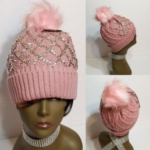 Sparkle Pompom Hat